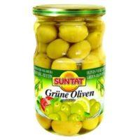Grüne Oliven m.k 720ml, Glas