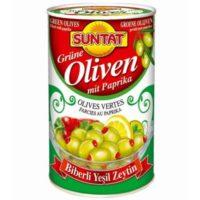 Grüne Oliven m. Paprika (1500ml)-800g Dose
