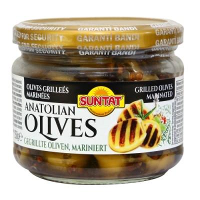 Grüne Oliven, gegrillt mariniert 300ml(250g)