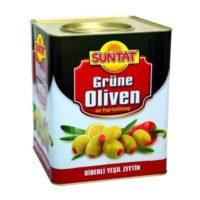 Grüne Oliven m. Paprika 10kg