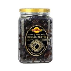 Gold Premium Yagli Sele Siyah Zeytin 900g kav.