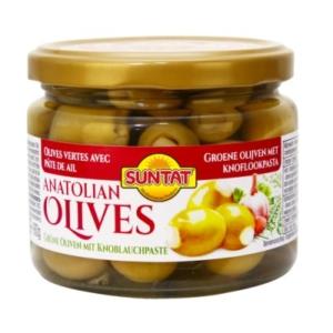 Gr. Olives w. garlic 300ml