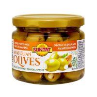 Grüne Oliven m. Mandelnpaste 300ml Gl.